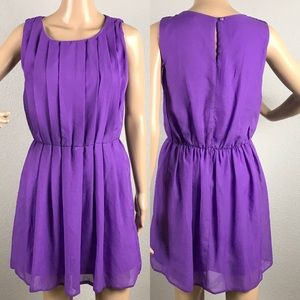 Atmosphere purple chiffon dress sz 12